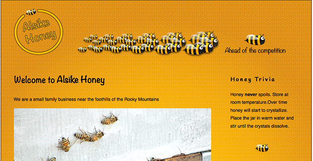 Alsike Honey